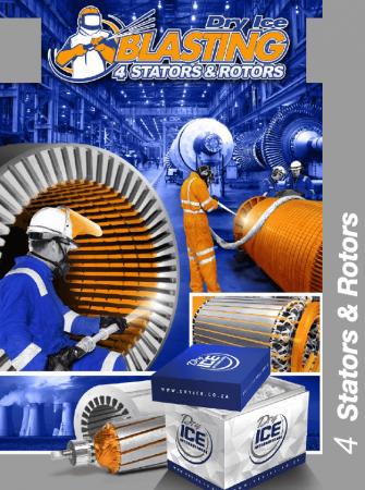 Dry Ice Blasting 4 Stators & Rotors